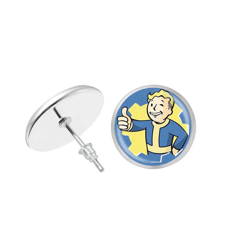 2019 ใหม่สไตล์ Boy Fallout 4 Shelter ต่างหูเกม Photo เงินรอบต่างหู Handmade แก้วโดมเครื่องประดับทำด้วยมือ