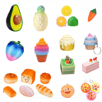 Anti-stress Squishy Toy Cute Fruit Cake Ice cream Bread Food Squeeze Toy Slow Rising Creative Stress Relief Kids Toy Gift сквиши 1pc cute bread squishy slow rising cream scented decompression toys squeeze squishie slow rising stress relief toy kids bl5