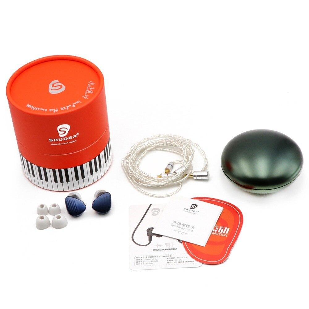 fone de ouvido destacável 6n único cristal cobre occ mmcx cabo