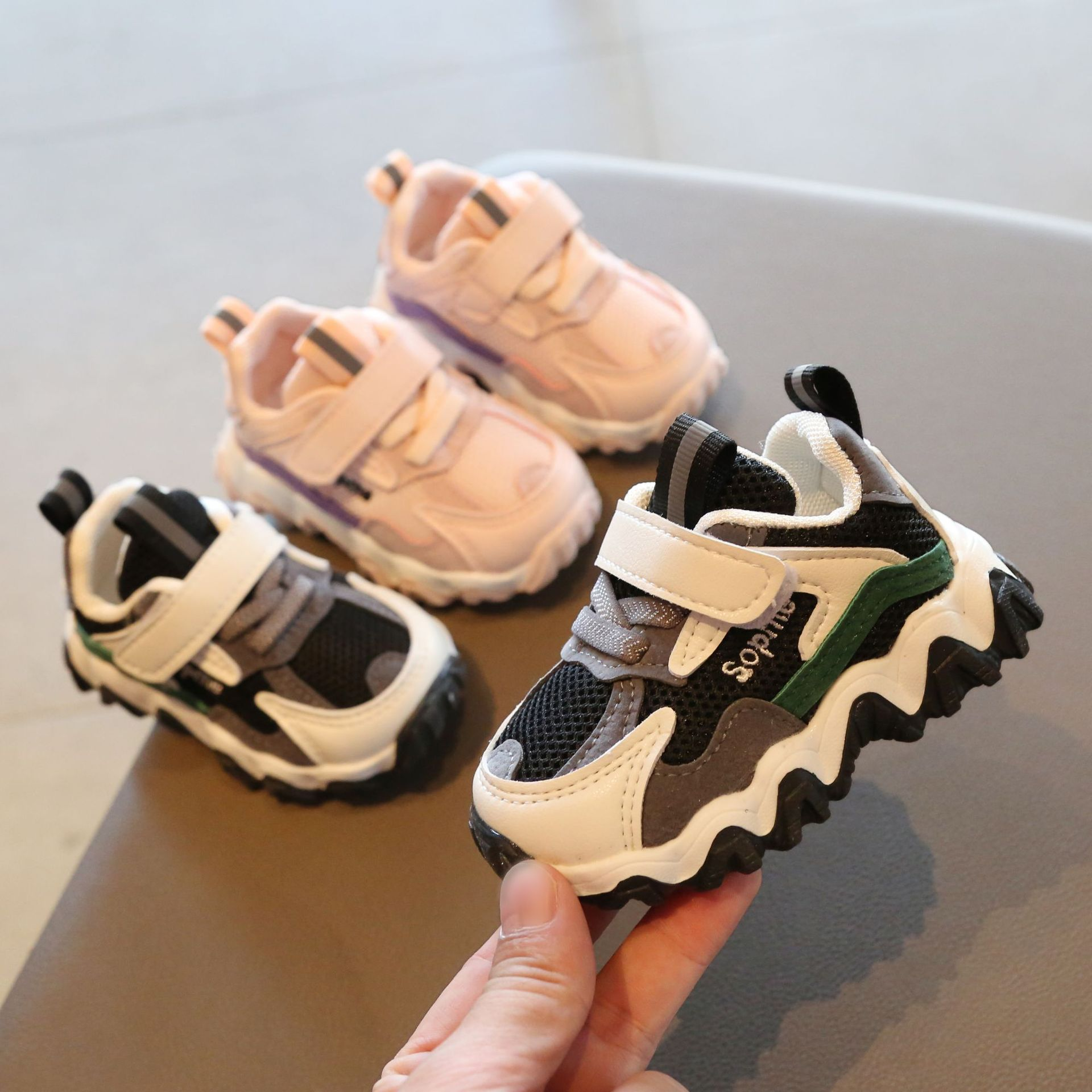 2020 New Baby Boy Sport Shoes Breathable Baby Girls Sneakers Infant Toddler First Walkers Children's Tennis Shoes Mesh