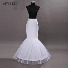 MYYBLE 2020 Wholesale Mermaid Petticoat 1 Hoop Bone Elastic Wedding Dress Crinoline 2020Bridal Cheap
