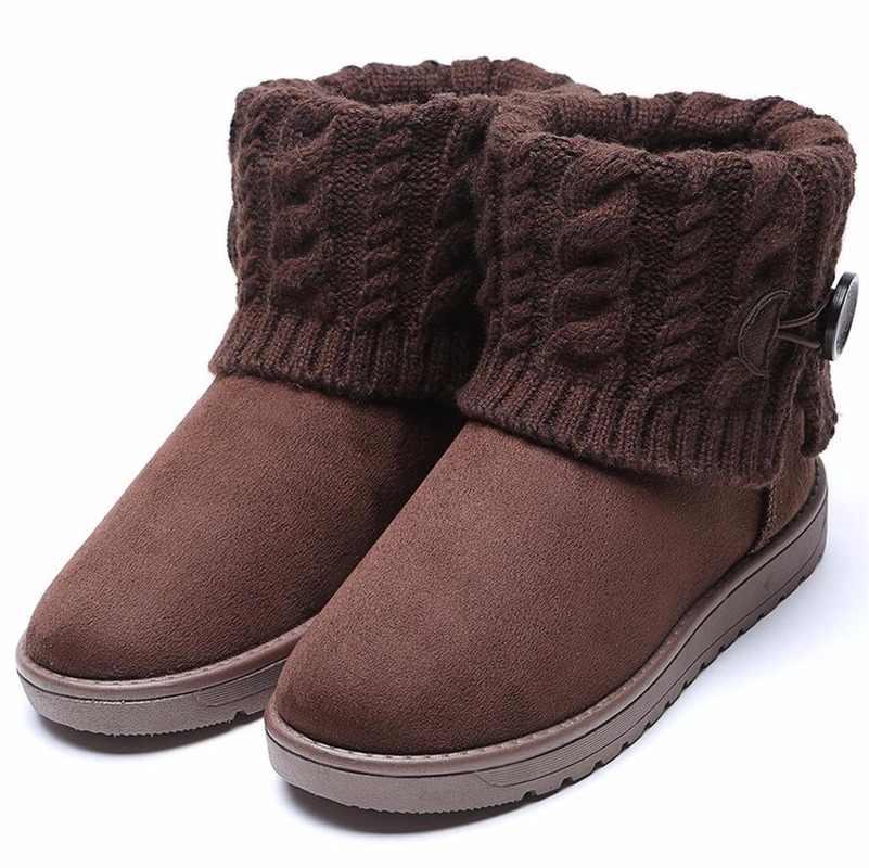 נשים מגפי החורף חם שלג מגפי נשים פו זמש קרסול מגפי נשי חורף נעלי Botas Mujer בפלאש נעלי אישה GY-65