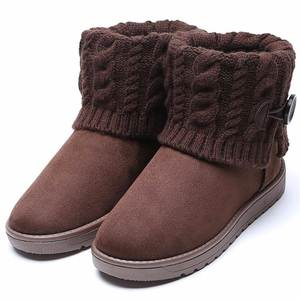 Women Boots Plush-Shoes Warm Winter Ankle for Female Mujer GY-65 Faux-Suede