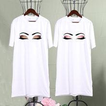 Эстетическое Платье с принтом ресниц для женщин harajuku принцесса