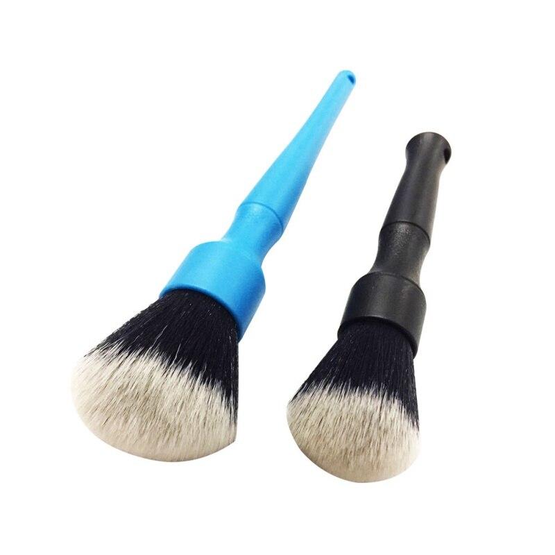 Супермягкая щетка для чистки волос, Электростатическая щетка для удаления пыли в салоне, инструмент для детализации, щетка для детейлинга с...