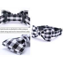 Handmade Black & White Plaid Collar
