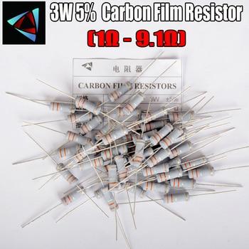 10Pcs 3W Carbon Film Resistor 5% 1R ~ 1M 1 1.2 1.5 1.8 2 2.2 2.4 2.7 3 3.3 3.6 3.9 4.3 4.7 5.1 5.6 6.2 6.8 7.5 8.2 9.1 ohm - discount item  5% OFF Passive Components