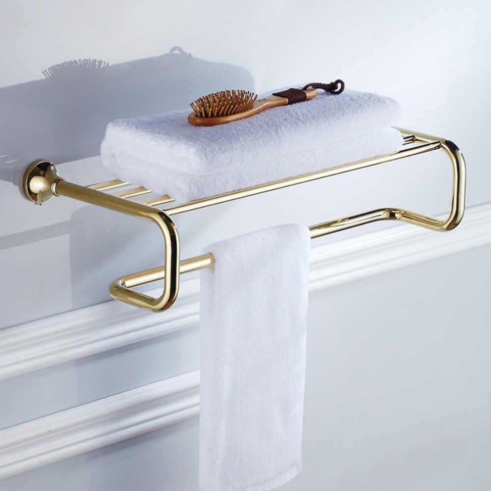 Sprzęt do kąpieli zestaw złoty mosiądz kolekcji akcesoria Okrągły wieszak na ręcznik uchwyt na papier szczotkę wc wieszak na płaszcze wanna wieszak na ręczniki mydelniczka