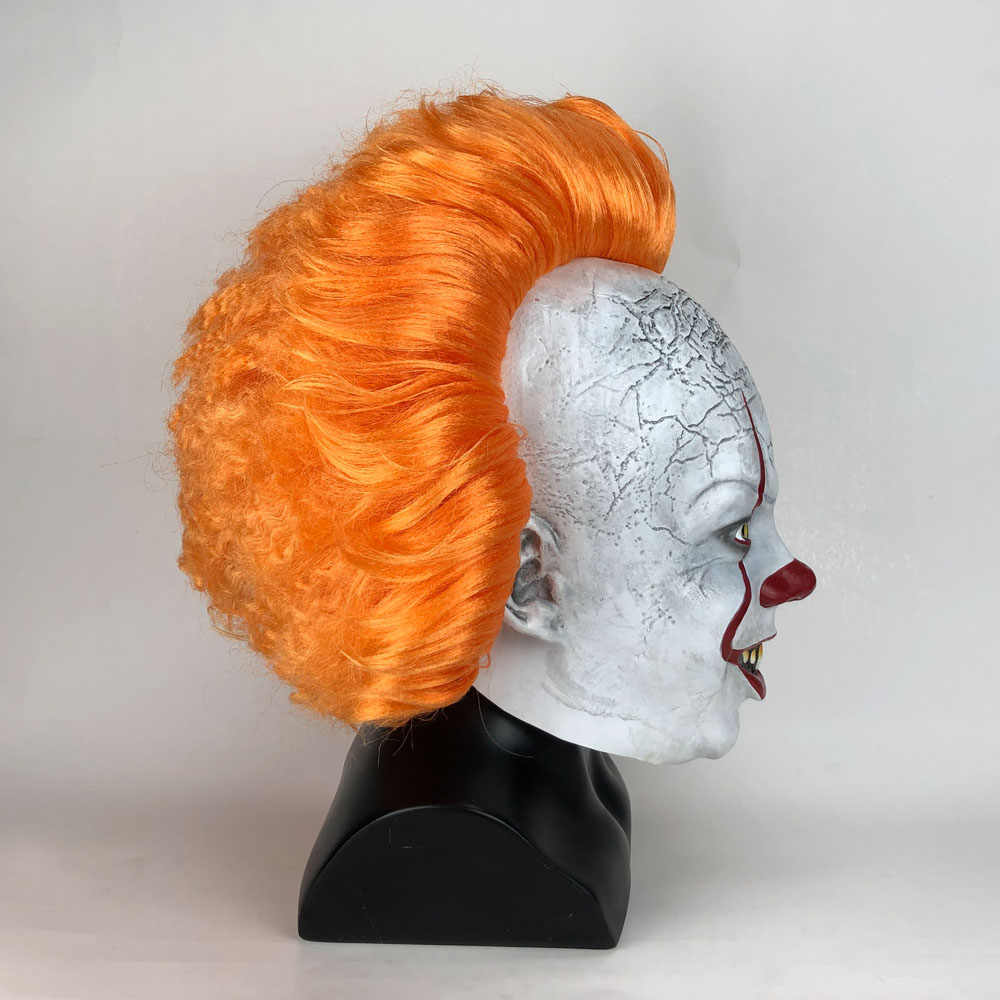 Joker Pennywise Masker Stephen King Ini Bab Dua 2 Horor Cosplay Lateks Masker Helm Badut Halloween Pesta Kostum Prop 2019
