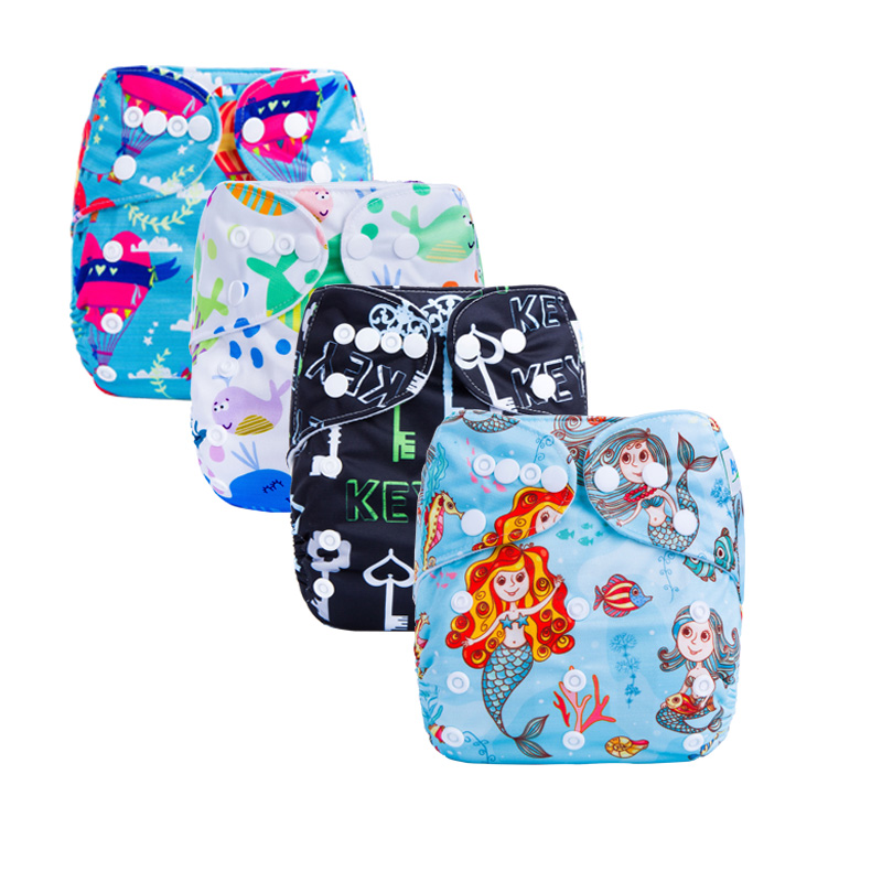 5pcs/lot Digital Reusable Pocket Cloth Baby Diapers Without Insert Suit 3-15kg And You Can Choose A Suit In The Detail Page