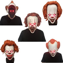 Joker Pennywise Masker Stephen King Ini Bab Dua Horor Cosplay Lateks Masker Helm Badut Halloween Pesta Kostum Prop 2020(China)
