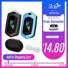 Yongrow Medical Rechargeable Digital Fingertip pulse Oximeter Blood Oxygen Saturation Meter Finger SPO2 PR Monitor oximetro