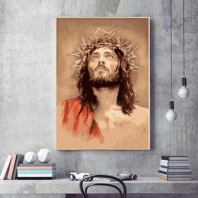 Religious Paint By Numbers Jesus Crown Of Thorns For Adults