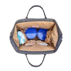 Image 5 - דיסני מיקי מיני נסיעות חיתול תיק Bolsa Maternidade עמיד למים עגלת תיק USB תינוק בקבוק חם תרמיל מומיה