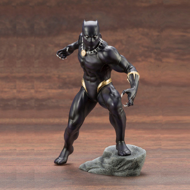 18cm Marvel Avengers Series Black Panther ARTFX+STATUE Super Hero PVC Action Figure Collectible Model Kids Gift Toys Doll