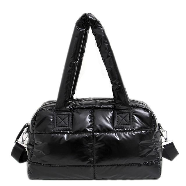 2020 New Winter Women Space Cotton Handbags casual Ladies Bag Down Fashion Bright Shoulder Bag Female tote Bolsas sac a main