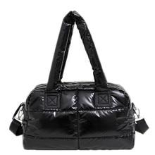 Bolso de algodón Space para mujer, bolsa de mano femenina, informal, a la moda, brillante, 2020
