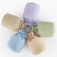 Vogvigo Random Color Drawstring Natural Burlap Bag Jute Gift Bags Multi Size Jewelry Packaging Wedding with Candy