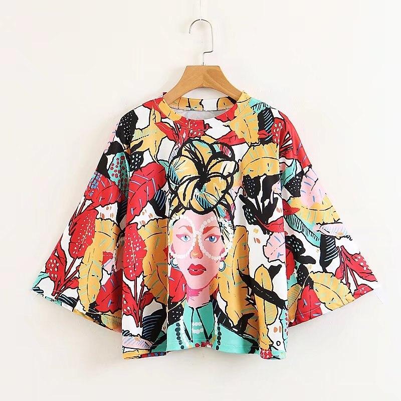 2020 Tropical Style Beauty  Print Harajukuer Zaraing Vadiming Sheiner Women T-shirt Tshirt Streetwear Tops Vintage