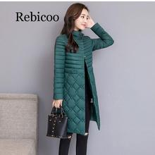 2019 Womens Winter Jacket Thicken Cotton Long Thick Warm
