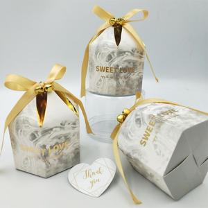 Image 5 - Gift Boxes Packaging Wedding Favors Chocolate Box Bomboniera Giveaways Boxes Party Supplies With Bells&Ribbons Paper Bags