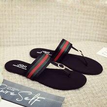Brand Ribbon Flip Flop Women's Wear 2021 Summer Beach Flat Bottom Anti Slip Seaside Fashion Clip Foot Sandals Flat Heel