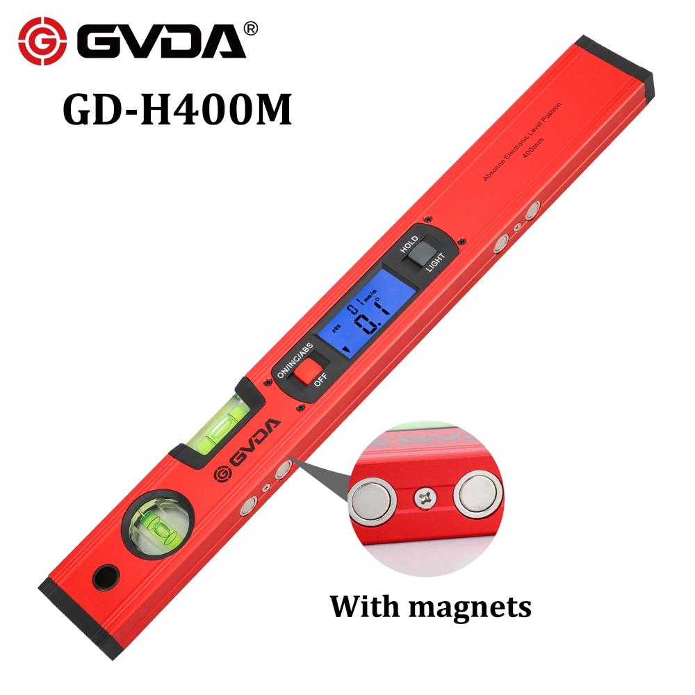 Rapporteur numérique Angle Finder inclinomètre électronique niveau boîte 360 degrés Base magnétique outil de mesure pente Test règle 400mm