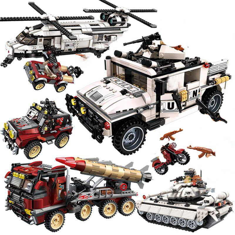 Enlighten compatible legoed Military a vehicle helicopter sets ww2 arme copter World war 2 building blocks Tank kids toys bricks