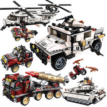 Enlighten compatible legoed Military a vehicle helicopter sets ww2 arme copter World war 2 building blocks Tank kids toys bricks(China)