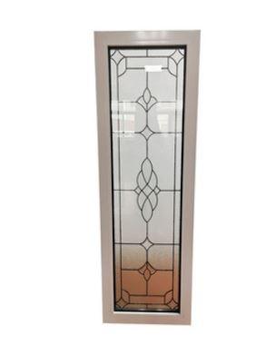 Customized Fixed PVC UPVC Vinyl Art Glass Windows