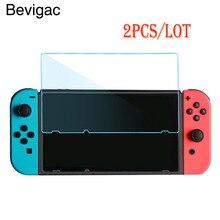 Bevigac 2 шт Анти-Царапины Высокое разрешение Закаленное стекло Защитная пленка для экрана для kingd nintendo Switch консоль игры