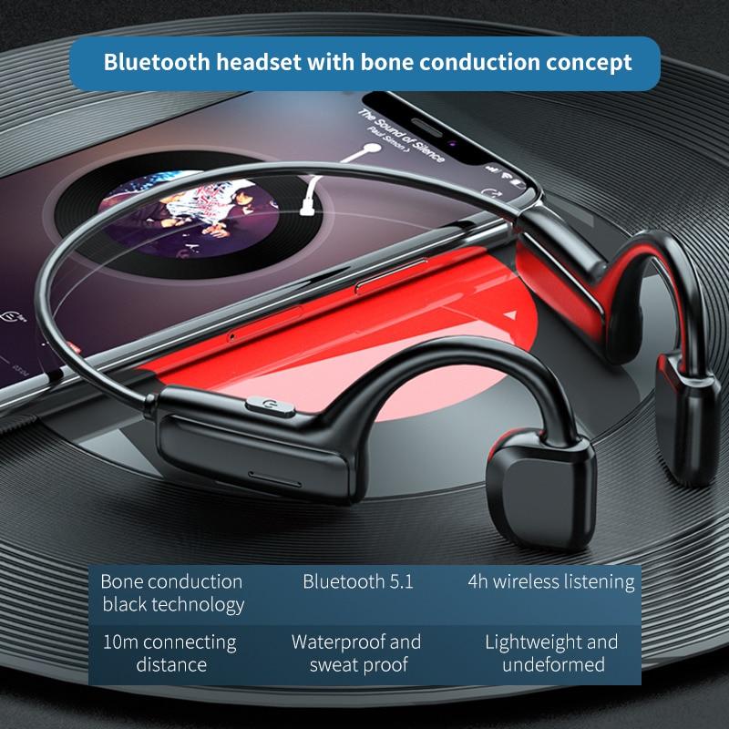 5,0 Bluetooth-наушники G1; Спортивная беспроводная гарнитура; С ушным крючком; Принцип воздушной проводимости; Стереонаушники Hi-Fi с микрофоном