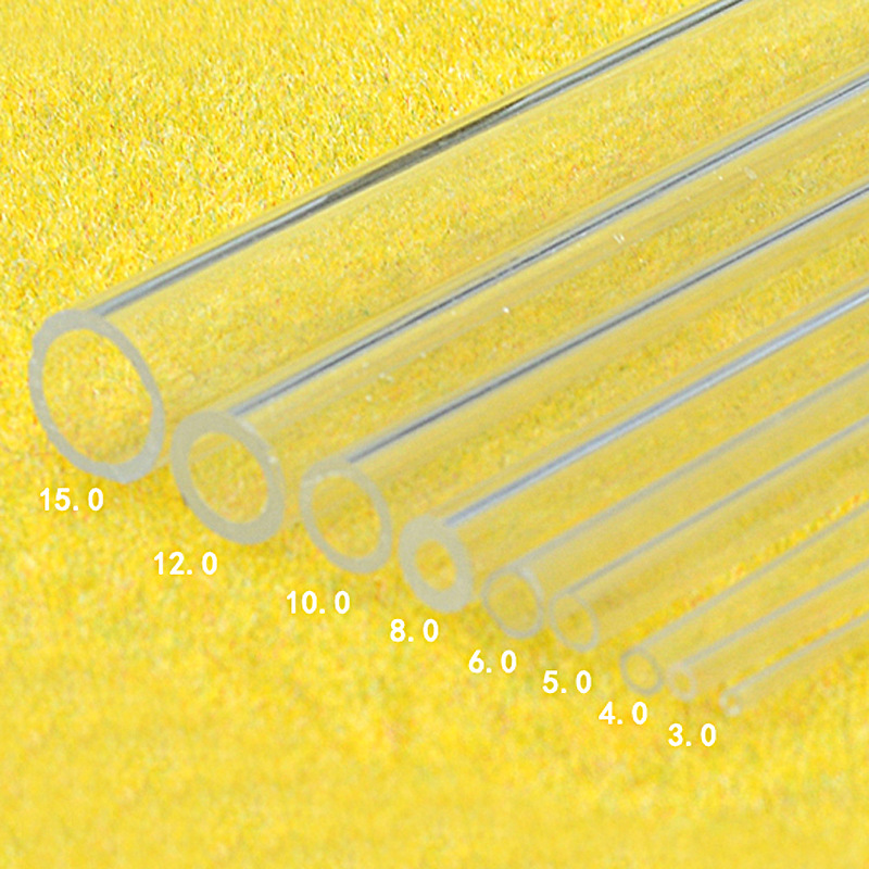 100 Pc directly 2-15 mm acrylic tube DIY building sand table model material transparent hollow circular tube resin <font><b>figure</b></font> image