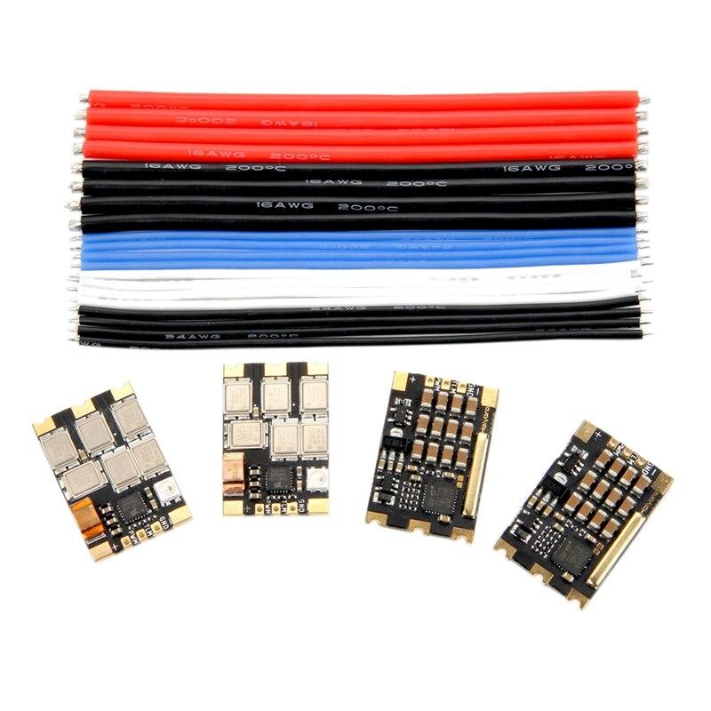 HOLYBRO 4 pièces Tekko32 F3 Métal ESC 65A BLheli 32 DShot1200 3 6S ESC W/F3 MCU et LED pour Drone RC