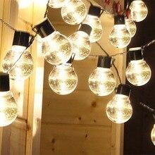 1/2Pcs LED Solar Power String Lights Ball Shaped Bulbs Light wedding Decor Outdoor Clear Birthday Party Supplies