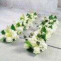 Роскошная Свадебная дорога  цитированные цветы  Шелковая Роза  пион  Гортензия  сделай сам  арочная дверь  ряд цветов  окно  Т-станция  свадеб...