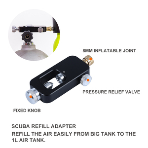 Image 5 - SMACO S300Plus Mini Scuba Diving Tank Equipment, Cylinder with 10 Minutes Capability, 0.5 Litre Capacity with Refillable Design