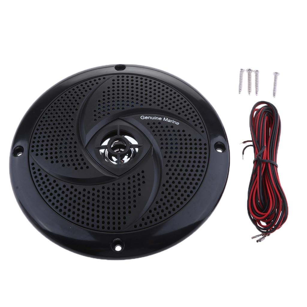6.5 Inch Marine Boat Speaker System 90 DB 4 Ω Audio Sound - 60 Watts Power - Flush Mount - Weatherproof - Black