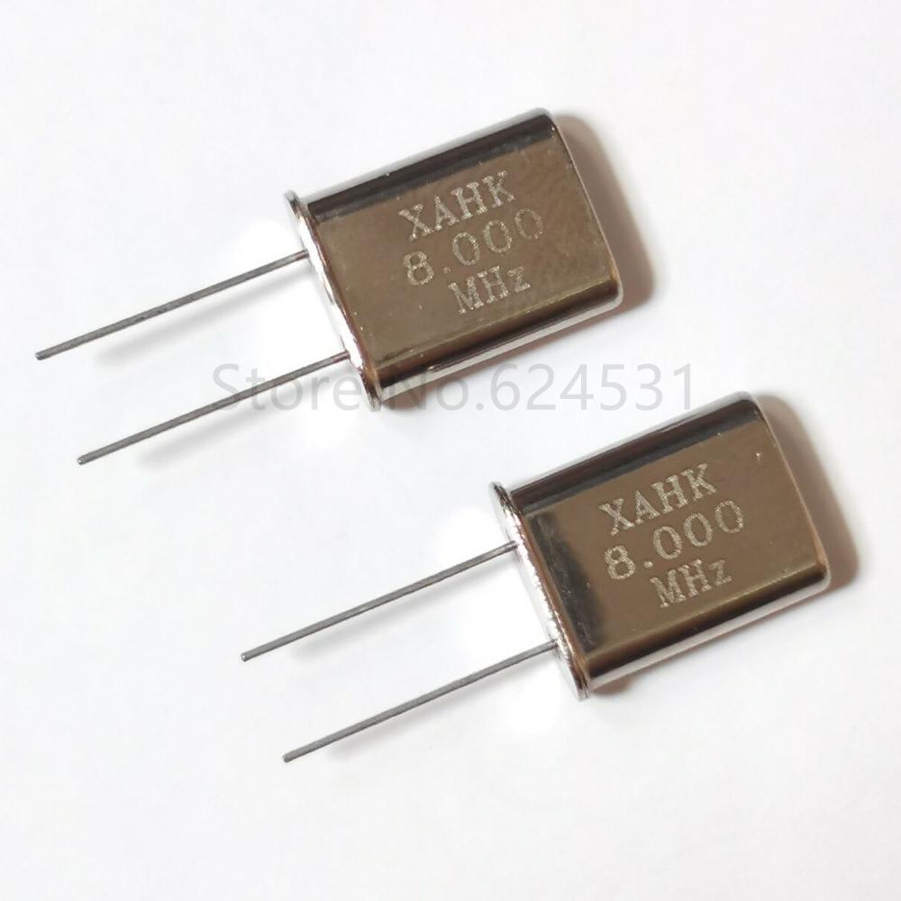 10pcs HC-49U In-line Quartz Crystal Crystal 8.00MHZ 8MHZ 8M Resonator