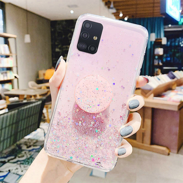 Bling Glitter Case For Samsung Galaxy A51 A52 Cases A50 A70 A71 A21s S20 Plus FE S21 Ultra S10 A32 A31 S9 A12 A72 A20e A41 Cover 2