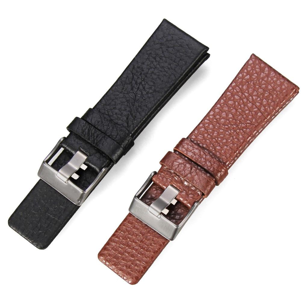 Leather Watchband for Diesel Watches 24 26 28mm Black Brown Watch Bracelet Strap
