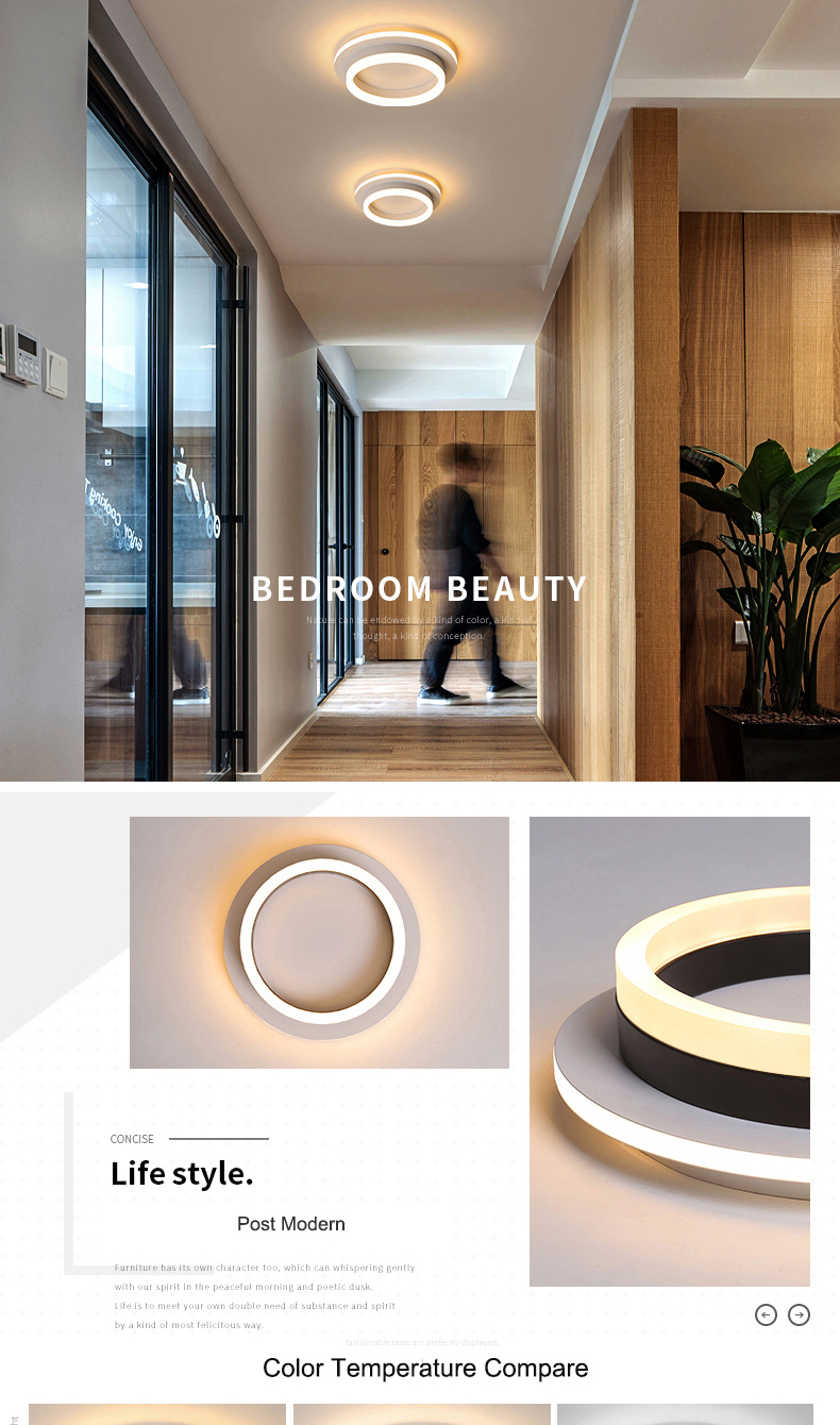 Hd779bfdc5c4941b599ba045cba5c1857G Modern Led Ceiling Lights For Hallway Porch Balcony Bedroom Living Room Surface Mounted Square/Round LED Ceiling Lamp