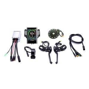 Image 2 - 2019 renkli ekran su geçirmez 48v500w Bafang arka kaset elektrikli bisiklet dönüşüm kiti fırçasız motor tekerlek EBike sistemi