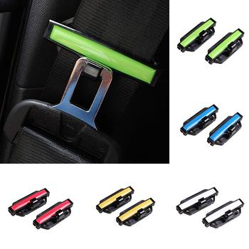 2Pcs Auto Car Seat Belt Clamp Buckle Adjustment Lock Tension Adjuster Safe Clip Car Belt Clamp image