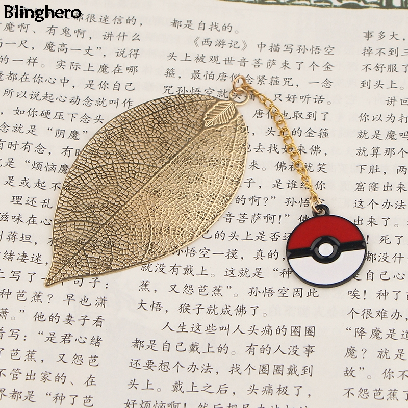 10pcs/set Blinghero Cartoon Pendant Bookmarks Metal Bookmarker Bookmark Clip Of Books Stationery Gift Office Supply BH0493