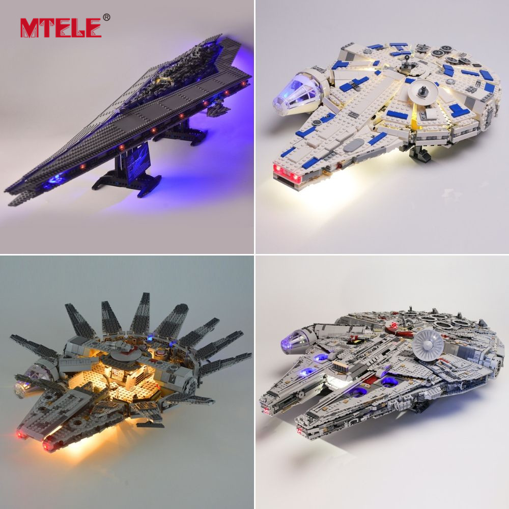 MTELE Light Kit For Star Wars Compatible With Legos 75212/75181/75192/75237/75102/75105/10188/10221/75055/75179/10225/75178