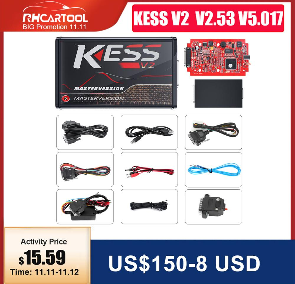 OBD2 Online EU Version KESS V5 017 SW V2 53 v2 47 No Token Limit Kess V2 5 017 ktag v7 020 bdm frame OBD2 Manager Tuning Kit Car