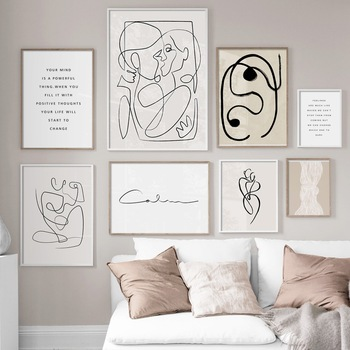Abstract Line Body Kiss Quotes Wall Art Canvas Painting Nordic Minimalist Posters And Prints Wall Pictures For Living Room Decor abstract minimalist sexy line woman wall art canvas painting nordic posters and prints wall pictures for living room home decor