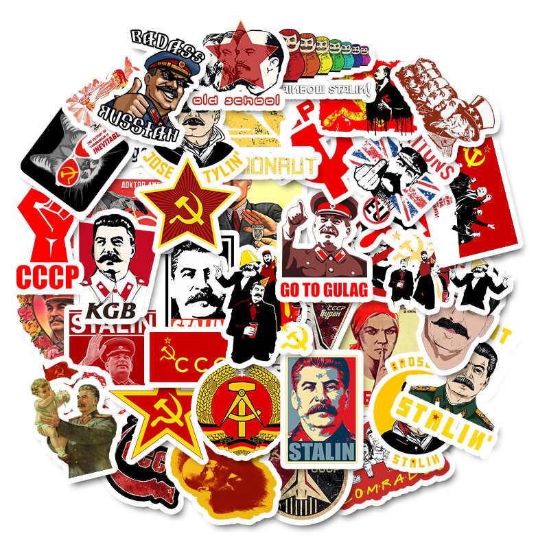 50Pcs Misto di Stalin URSS CCCP Poster Adesivi per il FAI DA TE Del Computer Portatile Dei Bagagli Porta Del Frigorifero Moto Decor Impermeabile Toy Sticker
