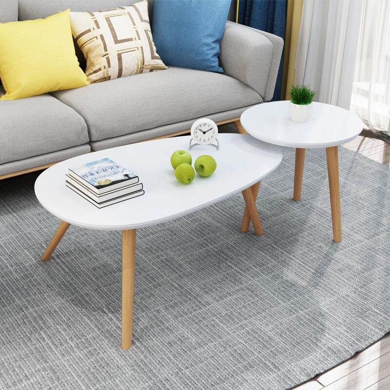 5%A2 Creative Wooden Tea Table Bedroom Bedside Coffee Table Nordic Style Simple Installation Portable Sofa Side Tea Table